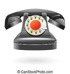 Isolated vintage phone