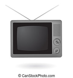 Isolated vintage television