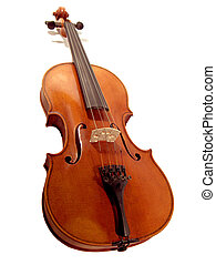Isolated Violin - An old violin