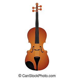 Isolated violin. Musical instrument