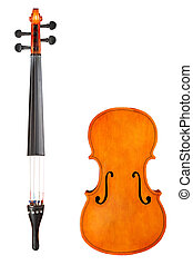 Isolated violin pieces