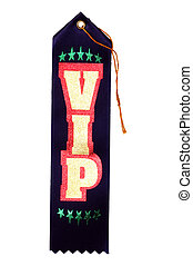VIP Ribbon - Isolated VIP Ribbon