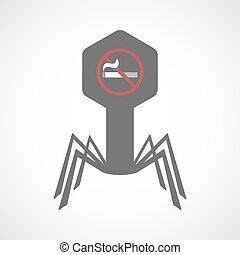 Isolated virus icon with  a no smoking sign