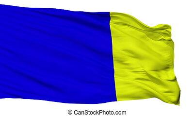 Isolated Viterbo city flag, Italy - Viterbo flag, city of...