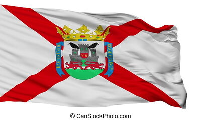 Isolated Vitoria city flag, Spain - Vitoria flag, city of...