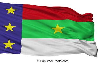 Isolated Vitoria da Conquista city flag, Brasil - Vitoria da...