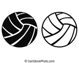 Volleyball - isolated Volleyball from white background