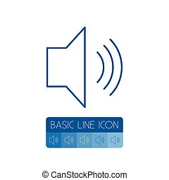 Isolated Volume Outline. Sound Vector Element Can Be Used For Volume, Sound, Control Design Concept.