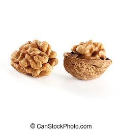 isolated walnuts