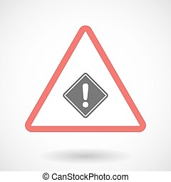 Isolated warning sign icon with   a warning road sign