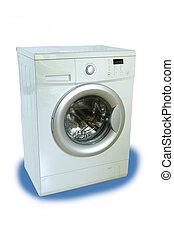 Isolated washing machine on a white background