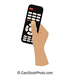 Isolated watch tv activity home with hands icon- Vector
