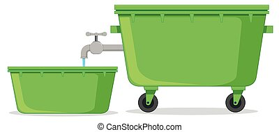 Isolated water container on white background
