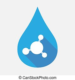 Isolated water drop with an interconnected net sign -...