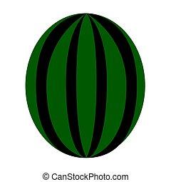Isolated watermelon illustration