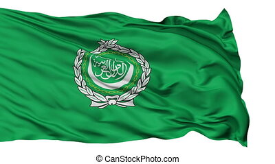 Isolated Waving Flag of Arab League