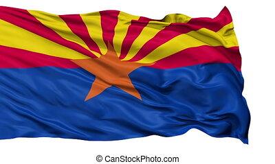 Isolated Waving National Flag of Arizona