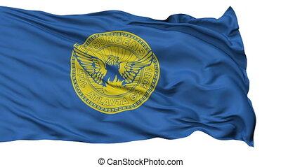 Isolated Waving National Flag of Atlanta City