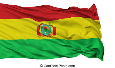 Isolated Waving National Flag of Bolivia