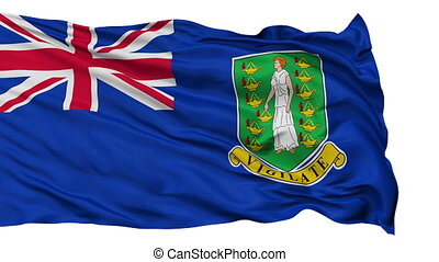 Isolated Waving National Flag of British Virgin Islands -...