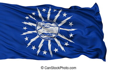 Isolated Waving National Flag of Buffalo City