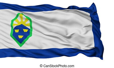 Isolated Waving National Flag of Colorado Springs City -...