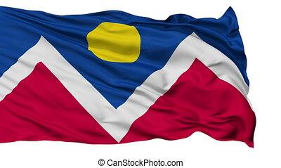 Isolated Waving National Flag of Denver City