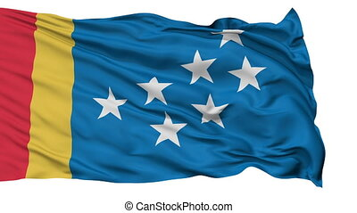 Isolated Waving National Flag of Durham City