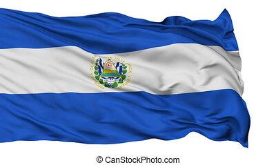 Isolated Waving National Flag of El Salvador - El Salvador...