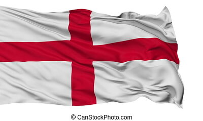 Isolated Waving National Flag of England