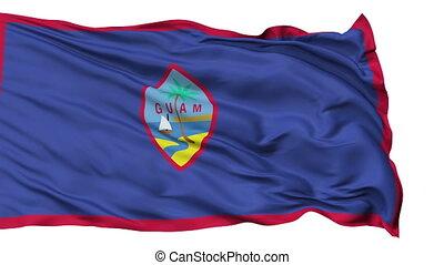 Isolated Waving National Flag of Guam