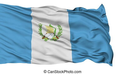 Isolated Waving National Flag of Guatemala