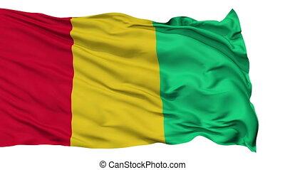 Isolated Waving National Flag of Guinea - Guinea Flag...