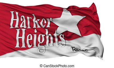 Isolated Waving National Flag of Harker Heights City, Texas