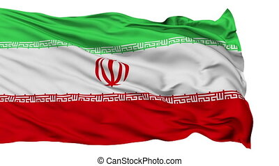 Isolated Waving National Flag of Iran