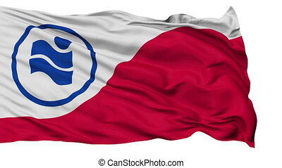 Isolated Waving National Flag of Irving City, Texas