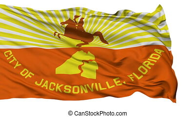 Isolated Waving National Flag of Jacksonville City -...