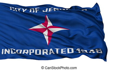 Isolated Waving National Flag of Jennings City, Missouri