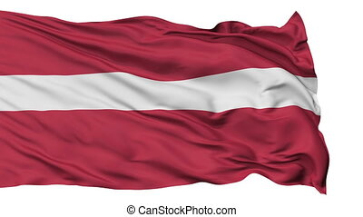 Isolated Waving National Flag of Latvia