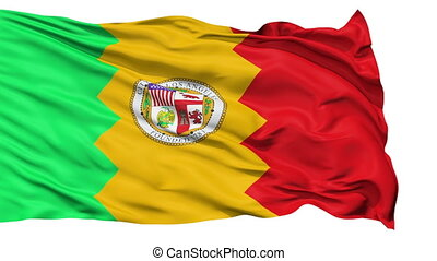 Isolated Waving National Flag of Los Angeles City - Los...