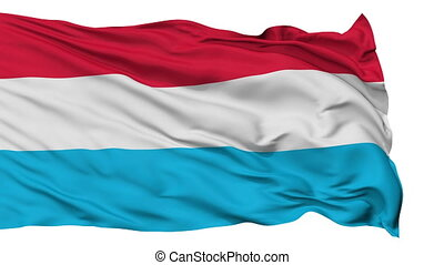 Isolated Waving National Flag of Luxembourg