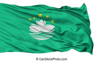 Isolated Waving National Flag of Macau