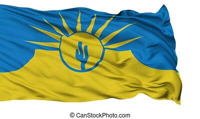 Isolated Waving National Flag of Mesa City, Arizona - Mesa...