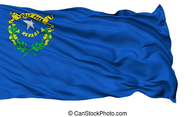 Isolated Waving National Flag of Nevada - Nevada Flag...