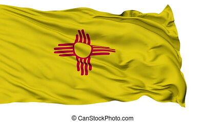 Isolated Waving National Flag of New Mexico