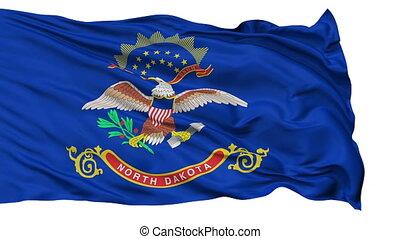 Isolated Waving National Flag of North Dakota - North Dakota...