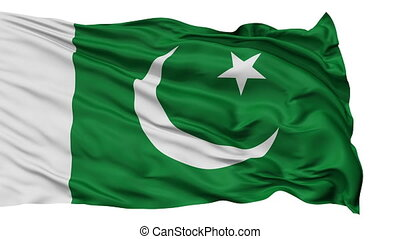 Isolated Waving National Flag of Pakistan