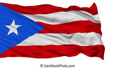 Isolated Waving National Flag of Puerto Rico - Puerto Rico...
