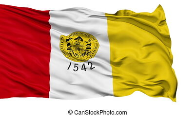 Isolated Waving National Flag of San Diego City