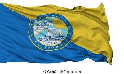 Isolated Waving National Flag of Santa Ana City, California